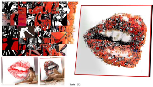Lippen, Erotik und Kunst, Moderne, zeitgenössische erotische Kunst, Erotische Kunst, nackt, Frau, Sexy, Kunst und Erotik, Erotik in der Kunst, erotische Darstellung, moderne Kunst, zeitgenössische Kunst, Pop art, amerikanische Pop Art, Pin-up, Pin-up Kuns