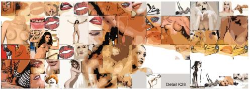 Früchtekörbchen - Erotik-ART, Moderne, zeitgenössische erotische Kunst, Erotische Kunst, nackt, Frau, Sexy, Kunst und Erotik, Erotik in der Kunst, erotische Darstellung, moderne Kunst, zeitgenössische Kunst, Pop art, amerikanische Pop Art, Pin-up, Pin-up