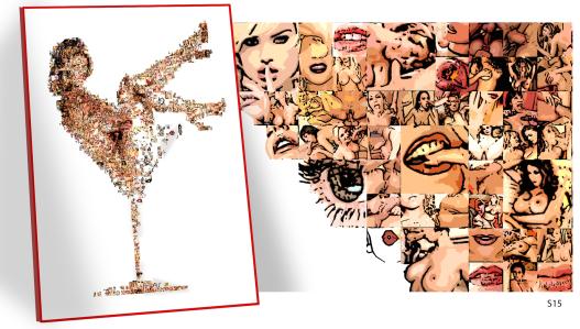 Champagner und Kunst, Moderne, zeitgenössische erotische Kunst, Erotische Kunst, nackt, Frau, Sexy, Kunst und Erotik, Erotik in der Kunst, erotische Darstellung, moderne Kunst, zeitgenössische Kunst, Pop art, amerikanische Pop Art, Pin-up, Pin-up Kunst, P