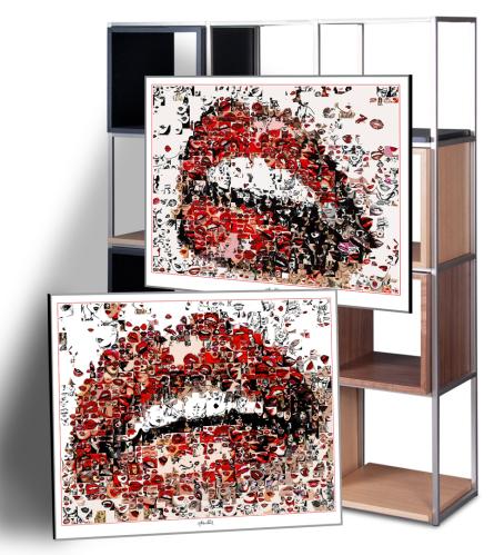 schöne Zähne -Wandbilder Wartezimmer für Zahnärzte und Zahnpraxen