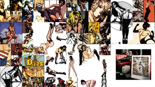 Jim Beam, Pin up, Erotische Kunst, nackt, Frau, Sexy, Kunst und Erotik, Erotik in der Kunst, erotische Darstellung, moderne Kunst, zeitgenössische Kunst, Pop art, amerikanische Pop Art, Pin-up, Pin-up Kunst,  Kunst, Art, Galerie, Kunstgalerie, zeitgenössi