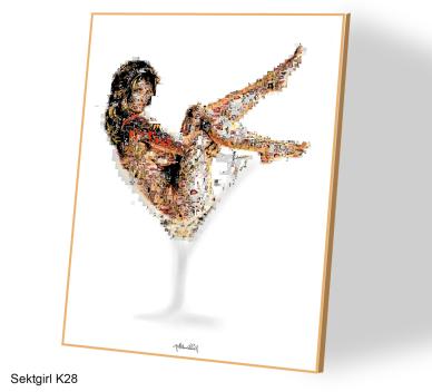Kunst und Erotik, Sektgirl, Erotische Kunst, nackt, Frau, Sexy, Kunst und Erotik, Erotik in der Kunst, erotische Darstellung, moderne Kunst, zeitgenössische Kunst, Pop art, amerikanische Pop Art, Pin-up, Pin-up Kunst,  Kunst, Art, Galerie, Kunstgalerie, z