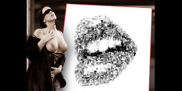 Lippen und Kunst, Erotik-ART Kunstbild, Moderne, zeitgenössische erotische Kunst, Erotische Kunst, nackt, Frau, Sexy, Kunst und Erotik, Erotik in der Kunst, erotische Darstellung, moderne Kunst, zeitgenössische Kunst, Pop art, amerikanische Pop Art, Pin-u