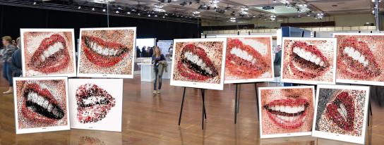 Kunstausstellung, Phantastische Lippen, schöne Zähne, erotische Lippen, rote Lippen, Lippen, perfekte Zähne, schöne Lippen, Kunst, Galerie, zeitgemäße-Kunst, moderne-Pop Art, Lippenkunst, Zahnkunst, Zahnpraxis, Wartezimmerkunst, Kunst Zahnarztpraxen, Kuns
