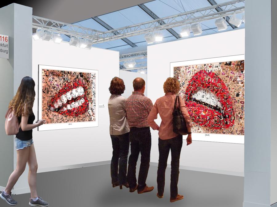 Lippen, Zähne  Kunstbild für die Zahnarztpraxis