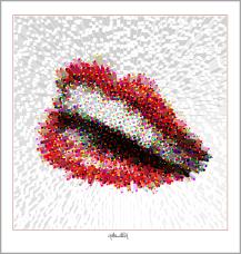 schöne Zähne, perfekte Zähne, erotische Lippen, rote Lippen, Lippen, schöne Lippen, Lippenkunst, Zahnkunst, Zahnpraxis, Wartezimmerkunst