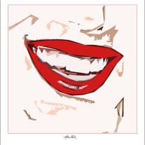 schöne Zähne, perfekte Zähne, erotische Lippen, rote Lippen, Lippen, schöne Lippen,