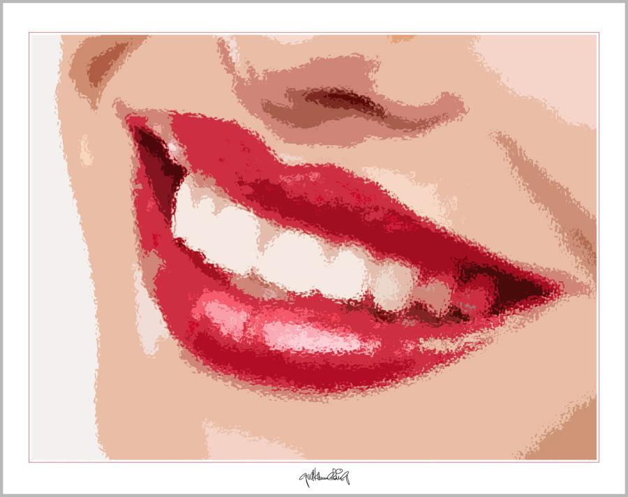 Phantastische Lippen, schöne Zähne, perfekte Zähne, perfekte Lippen, tolle Lippen, erotische Lippen, rote Lippen, Lippen, schöne Lippen,