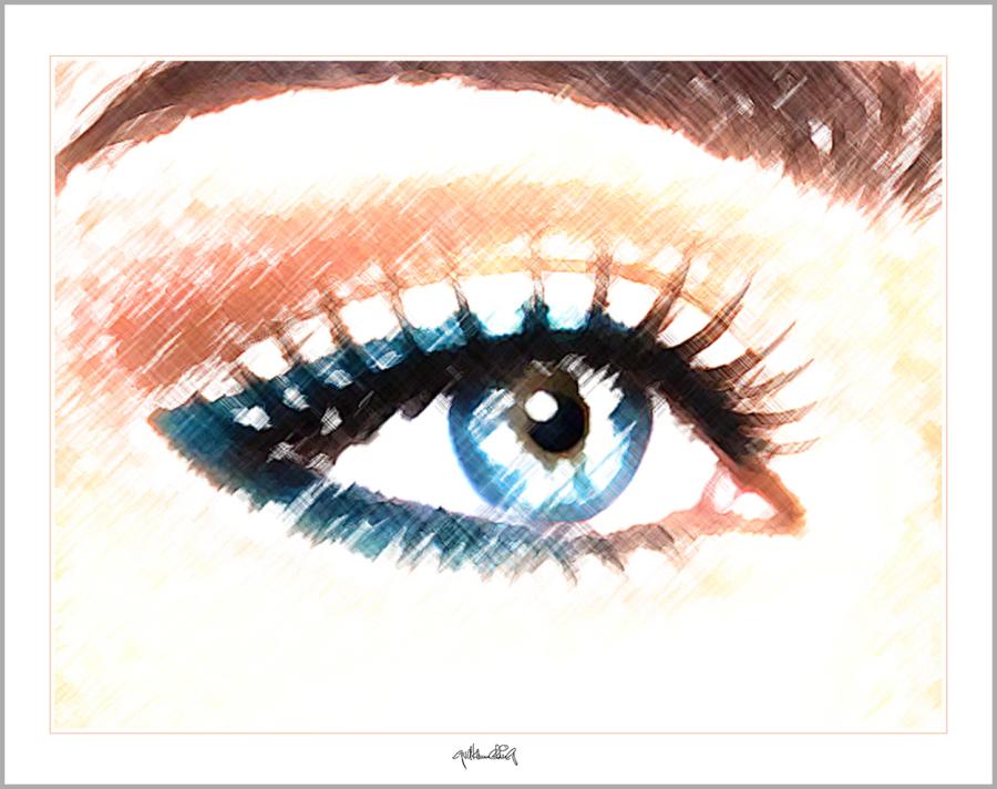Tolle Augen, schöne Augen, erotische Augen, blaue Augen,