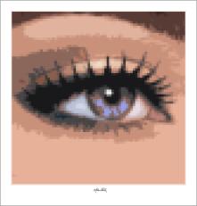 Tolle Augen, schöne Augen, erotische Augen, blaue Augen, Augen, lange Wimpern, große Augen, Augenkunst