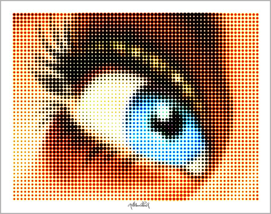 blaue Augen, Augen, lange Wimpern, große Augen, Augenkunst, Auge und Kunst, Augenpraxis, Wartezimmerkunst, Kunst Augenpraxen, Kunst Augenklinik,