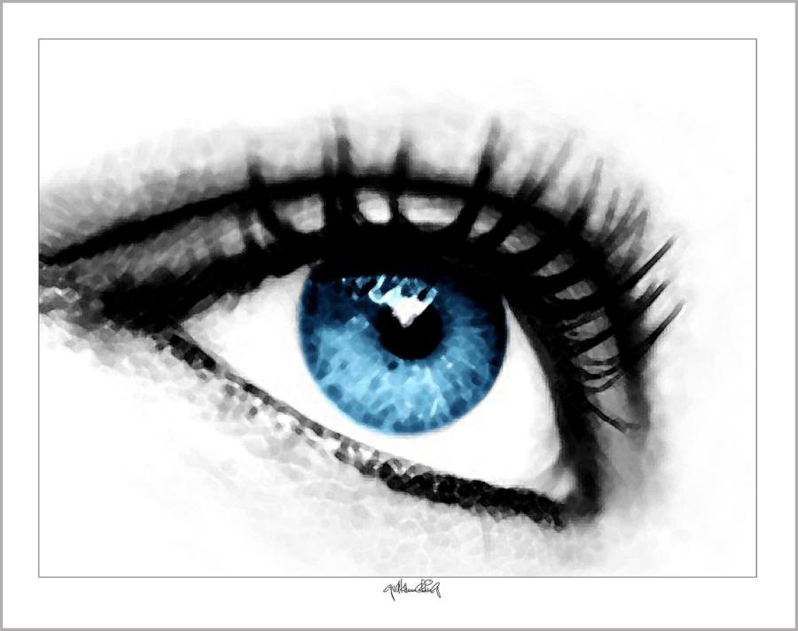 erotische Augen, blaue Augen, Augen, lange Wimpern, große Augen, Augenkunst, Auge und Kunst, Augenpraxis