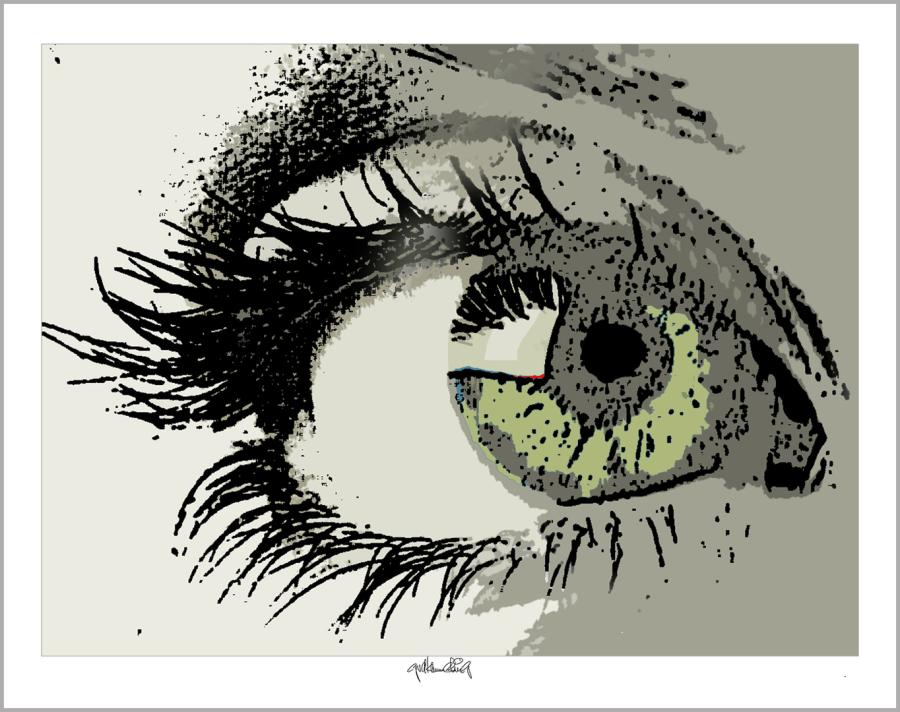 Tolle Augen, schöne Augen, erotische Augen, blaue Augen, Augen, lange Wimpern, große Augen, Augenkunst, Auge und Kunst, Augenpraxis, Wartezimmerkunst, Kunst Augenpraxen