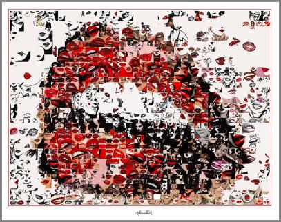 schöne Zähne , Kunstausstellung, Art fair, Galerie, Kunstgalerie, Vernissage, Kunst mit Lippen