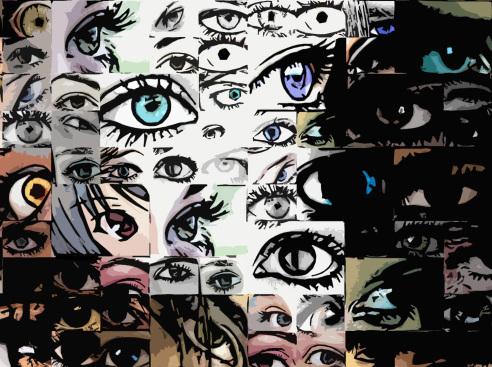 Auge, Kunst, Wandbild, zeitgenössische Kunst, moderne-Pop Art,