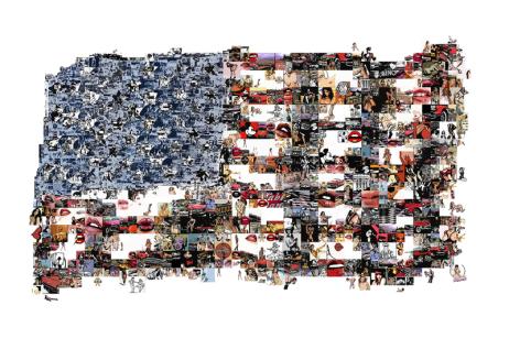 Stars & Stripes, Amerika, USA, Rock´n´Roll, Pin-up, Kennedy, Goldene 60er Jahre, Cadillac, Jim Beam, Pop Art, moderne Kunst, Mondlandung, Astronauten, Jim Dean, Playboy, Penthouse,