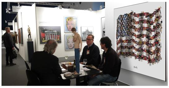 Stars + Stripes, USA, Kunst, Bild, Wandbild, Artfair, Kunstausstellung