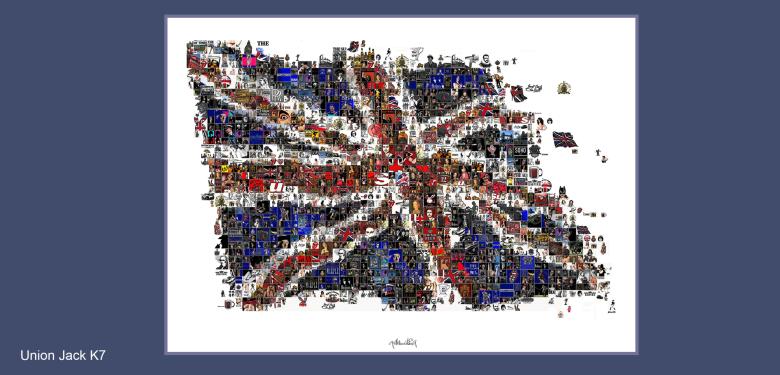 Union-Jack, Kunst und England