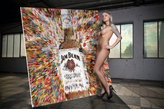 Jim Beam, Pin up Bild, Jim Beam und Kunst, Erotische Kunst, nackt, Frau, Sexy, Kunst und Erotik, Erotik in der Kunst, erotische Darstellung, moderne Kunst, zeitgenössische Kunst, Pop art, amerikanische Pop Art, Pin-up, Pin-up Kunst,  Kunst, Art, Galerie,