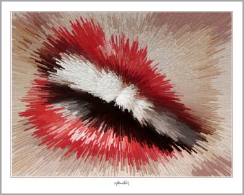 rote Lippen, Lippen, perfekte Zähne, schöne Lippen, Kunst, Galerie, zeitgemäße-Kunst, moderne-Pop Art, Zahnpraxis,