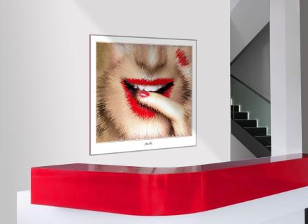 PPhantastische Lippen, schöne Zähne, erotische Lippen, rote Lippen, Lippen, perfekte Zähne, schöne Lippen, Kunst, Galerie, zeitgemäße-Kunst, moderne-Pop Art, Lippenkunst, Zahnkunst, Zahnpraxis, Wartezimmerkunst, Kunst Zahnarztpraxen, Kunst Zahnarzt, Zahn-