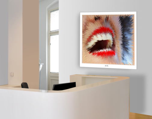Zahnpraxis, Rezeption, Gestaltung, Designmöbel