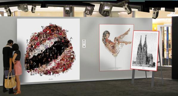 erotische Wandbilder, erotische Kunst,  rote Lippen, erotische Lippen,