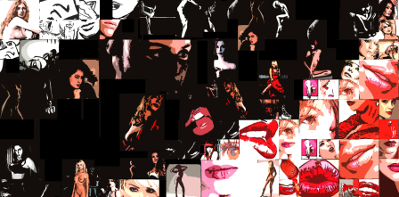 erotische Kunst, rote Lippen,