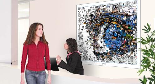Bilder Rezeption, Augenklinik, Augenarzt, Kunst und Augen, Wandbild, Bilder Wartezimmer,