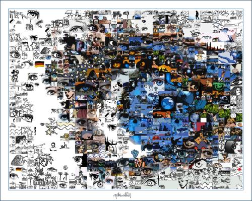 zeitgenössische Kunst, moderne-Pop Art, Bilder fürs Wartezimmer, Kunst und Augen