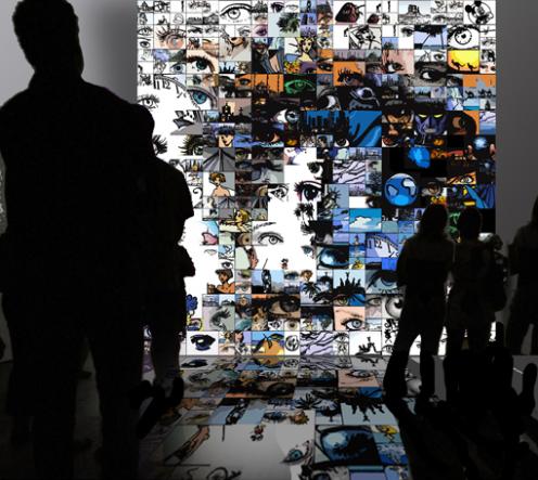 Artfair, Auge, Kunst, Wandbild, zeitgenössische Kunst, moderne-Pop Art,