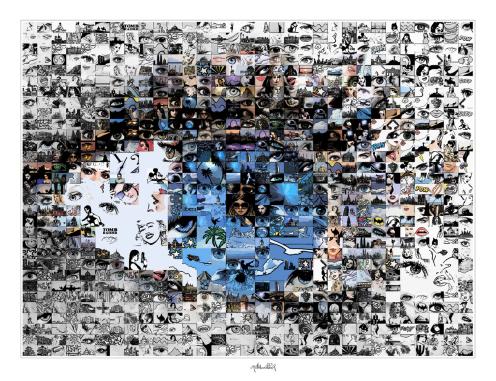 Blaue Augen, Bilder für Augenarztpraxen, Kunst mit Augen, Augenarztpraxis, Kunst für Augenärzte, Bilder Rezeption