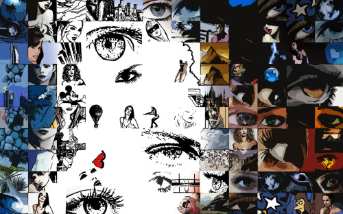 Augen, Kunst, Wandbild