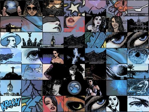 blaue Augen, Kunst Augenpraxen, Kunst Augenk