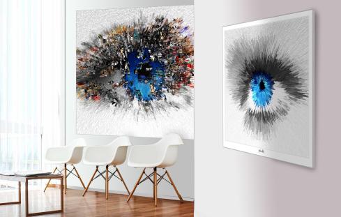 Augenarzt Wartezimmer, Augen-Kunst, Wandbilder Augenarztpraxis, Augen, Kunst,