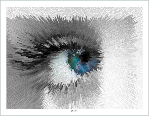 Blaue Augen,  Auge, Kunst, Wandbild, zeitgenössische Kunst, moderne-Pop Art,