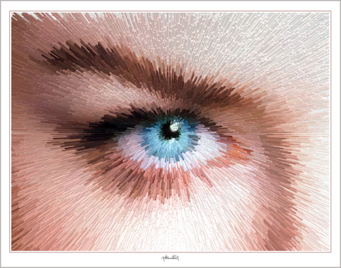 Blaue Augen, Kunst, Wandbild,