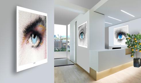 Wandbilder für Augenärzte und Augenarztpraxen, Einrichtung Arztpraxis,