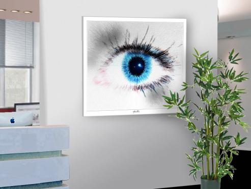 Auge, Kunst, Bilder für Augenarztpraxen, Kunst mit Augen, Augenarztpraxis, Kunst für Augenärzte, Bilder Rezeption