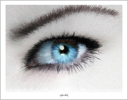 blaue Augen, Augenkunst, Auge und Kunst, Augenpraxis, Kunst Augenpraxen, Kunst Augenklinik,
