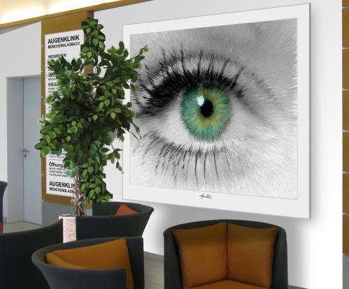 Tolle Augen, schöne Augen, erotische Augen, blaue Augen, Augen, lange Wimpern, große Augen, Kunst, Galerie, zeitgenössische Kunst, moderne-Pop Art, Augenkunst, Auge und Kunst, Augenpraxis, Wartezimmerkunst, Kunst Augenpraxen, Kunst Augenklinik, Zahn-Auge,