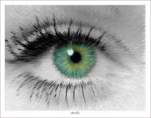 grüne Augen, Kunst und Augen, Wandbild, Bilder Wartezimmer, schöne Augen,