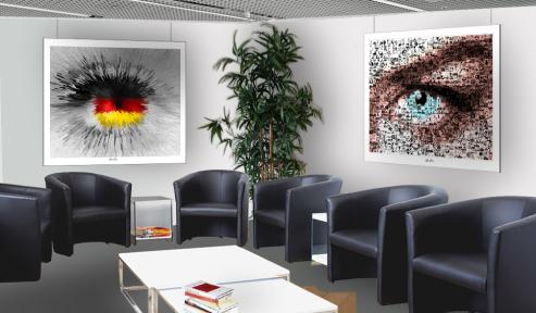 Wandbild, Kunst, Augenpraxis, Eingangsbereich, Wartezimmer, Rezeption