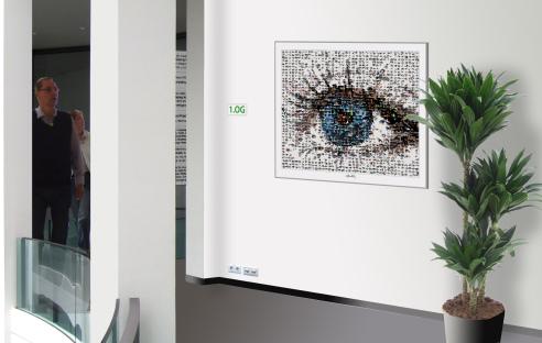 Auge, Kunst, Wandbild, Einrichtung Augenarzt,
