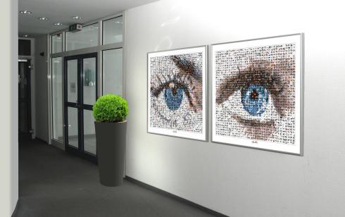 Wandbild, Kunst, Augenpraxis, Eingangsbereich, Wartezimmer