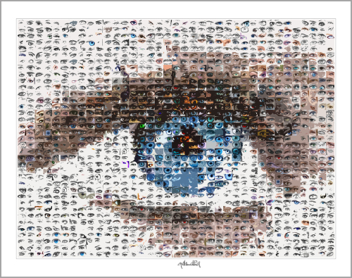 Kunst und Augen, Wandbild, Bilder Wartezimmer, blaue Augen,