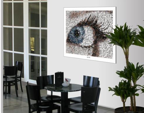 Wandbild, Kunst, Augenpraxis, Eingangsbereich, Wartezimmer Bilder Rezeption, Augenklinik, Augenarzt