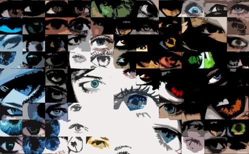 Augenarzt Wartezimmer, Augen-Kunst, Einrichtung-Praxis, Augen, Kunst, Galerie