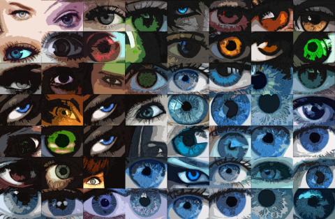 Kunst und Auge, Kunst und Augen, Wandbild, Bilder Wartezimmer