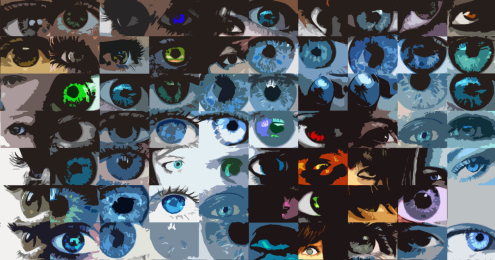 blaue Augen, Wandbild, Augenarzt